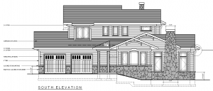 An elevation plan drawing